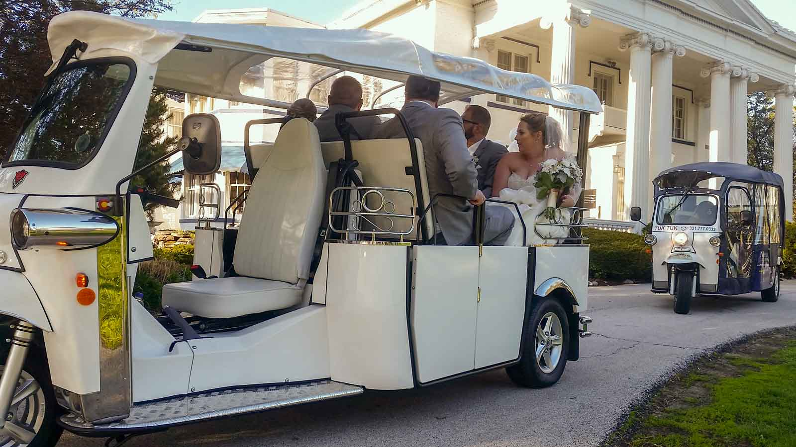 wedding party in event transportation